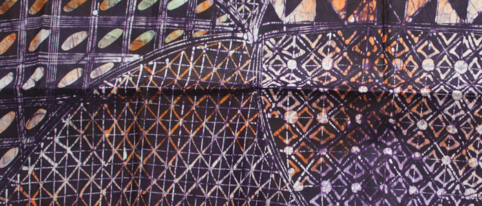 Purple rain batik fabric