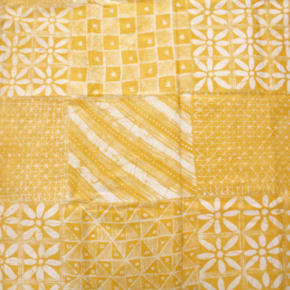 Yellow west african batik