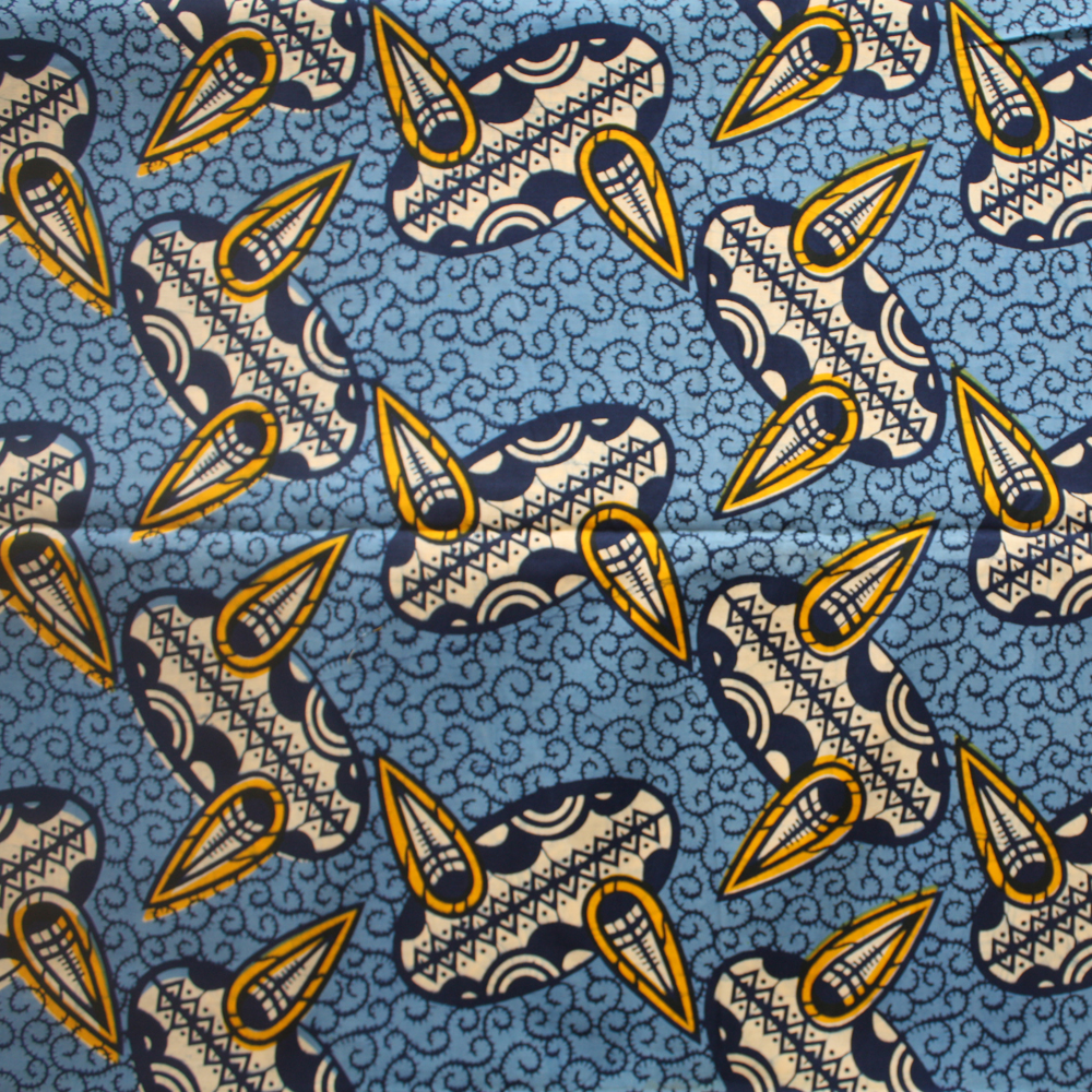 Blue And Yellow Ankara Fabric By The Yard Urbanstax