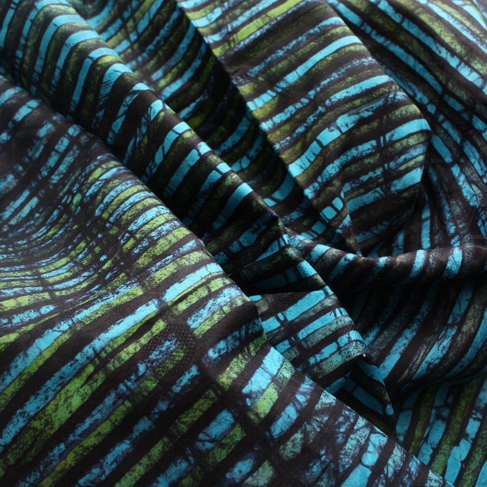 Turquoise, Blue And Green African Batik- 2.4 Yards