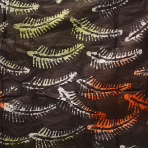 Brown Feathers Fabric