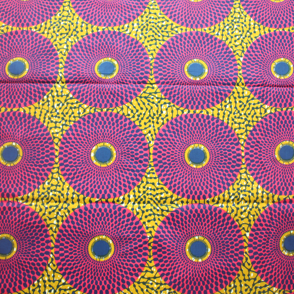 Record Ankara Fabric, Olive green and Pink- 1 Yard