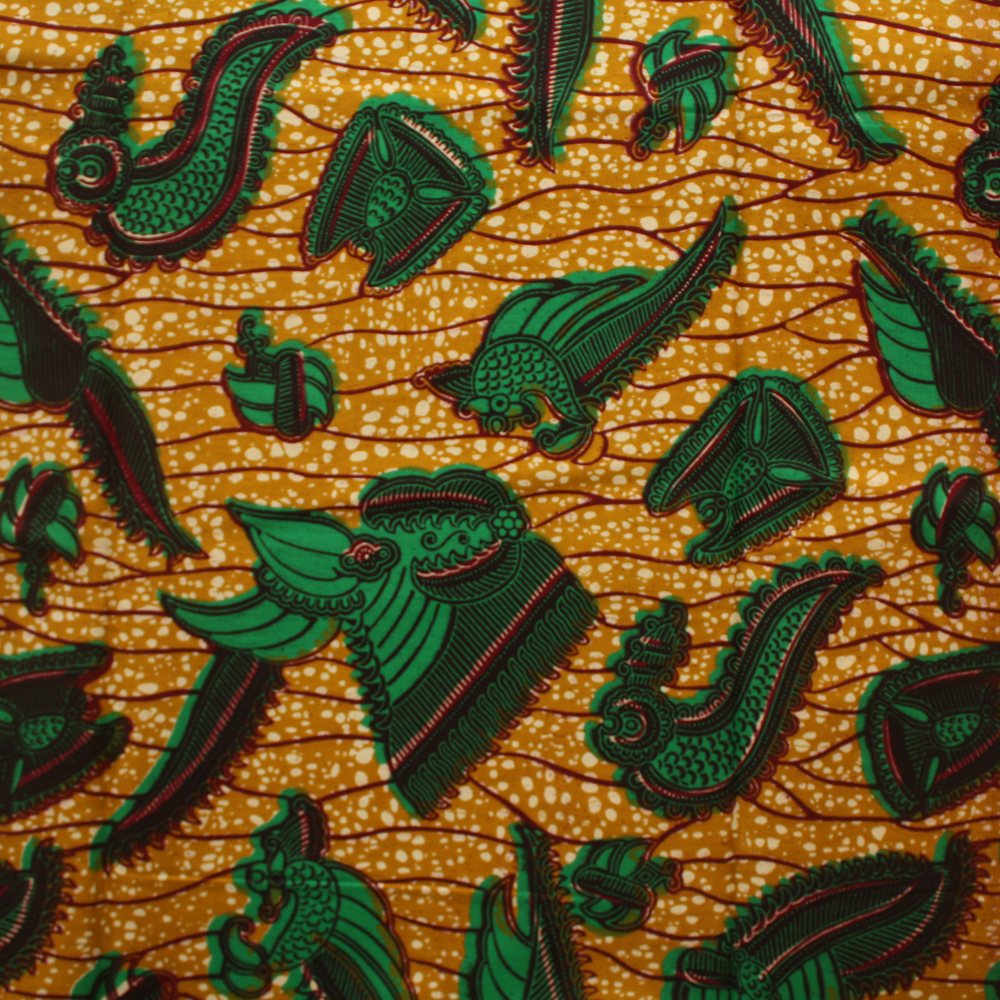 Green and Brown Ankara