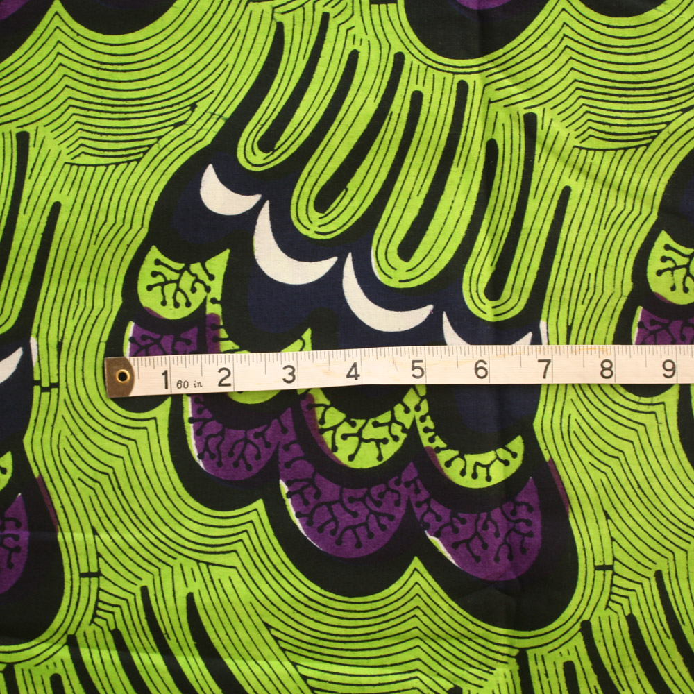 Lime Green And Purple Ankara Fabric By The Yard Urbanstax