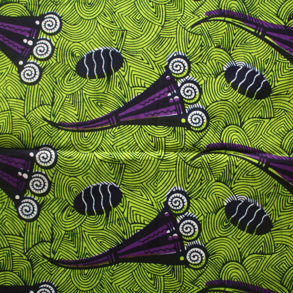 Purple And Lime Green Ankara Fabric By The Yard Urbanstax