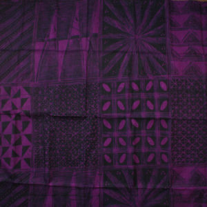 Purple and black batik