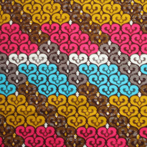 African Print Hearts