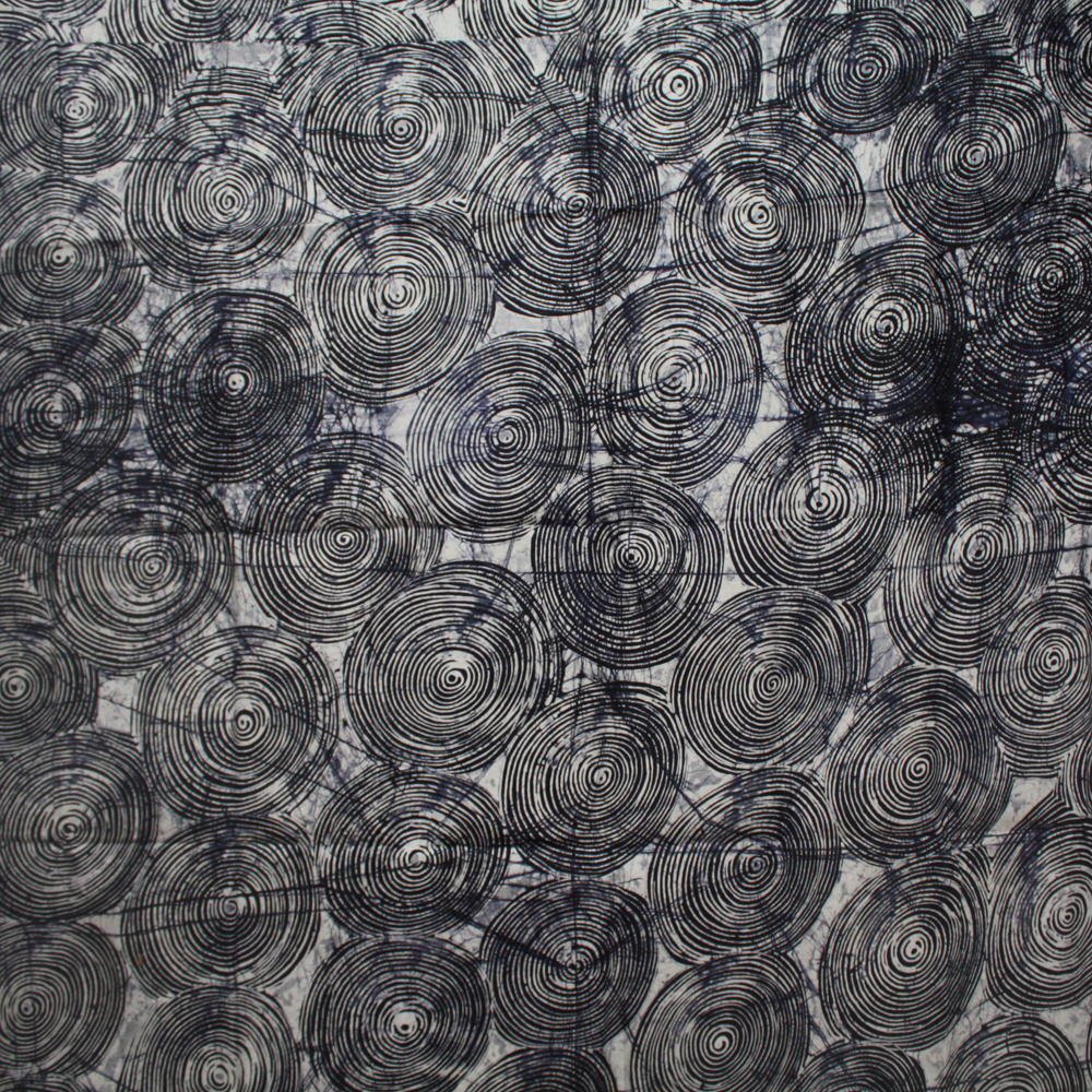 Black and white swirls batik