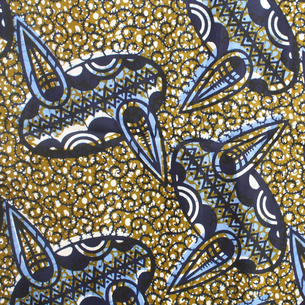 Olive Green and Blue Ankara