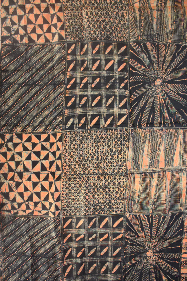 Black and Salmon Pink Batik