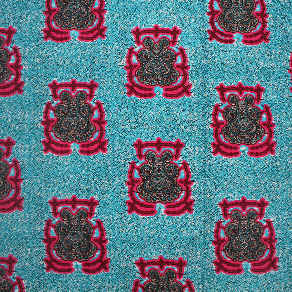 Turquoise and Pink Ankara