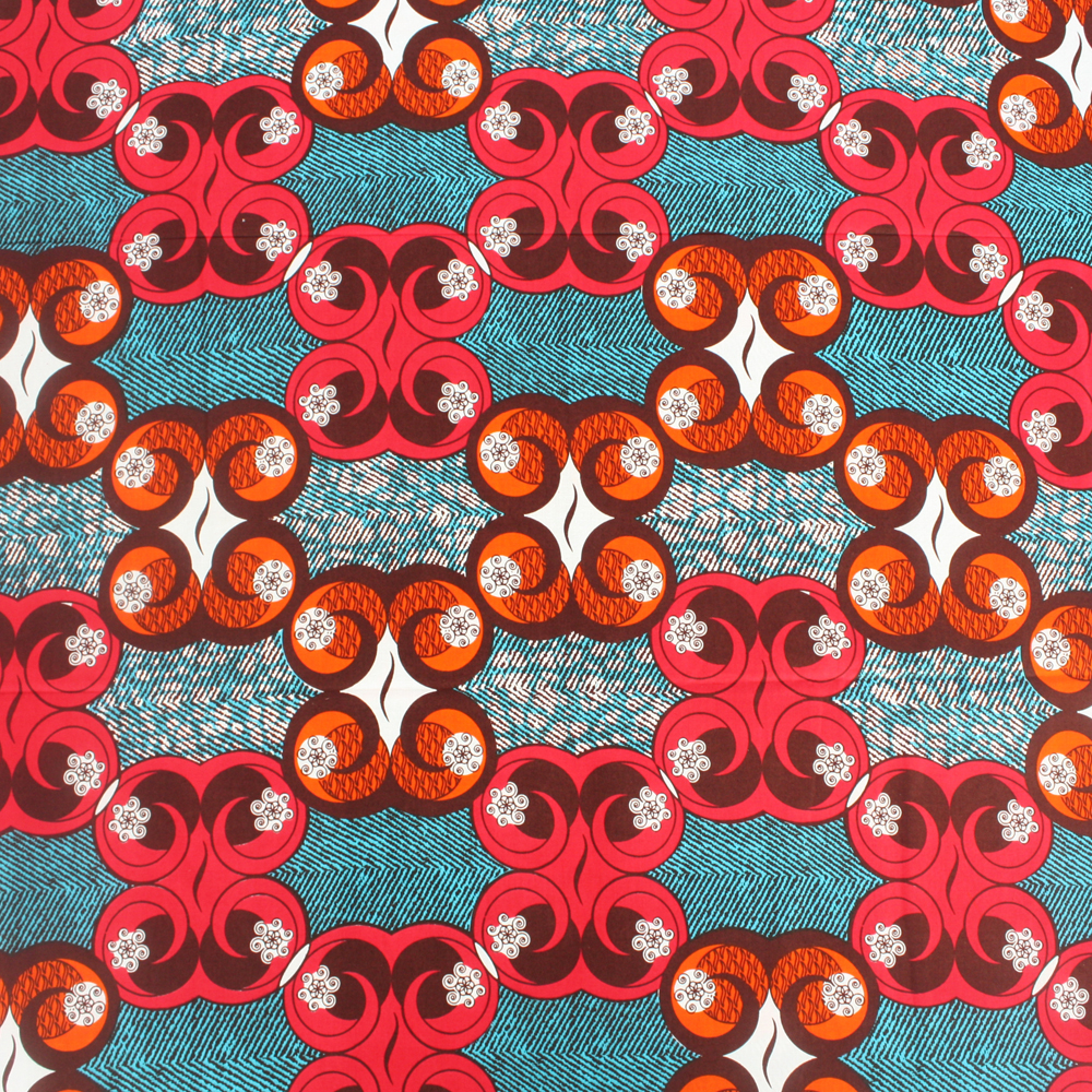 teal pink and orange ankara print 1 yard urbanstax. Black Bedroom Furniture Sets. Home Design Ideas