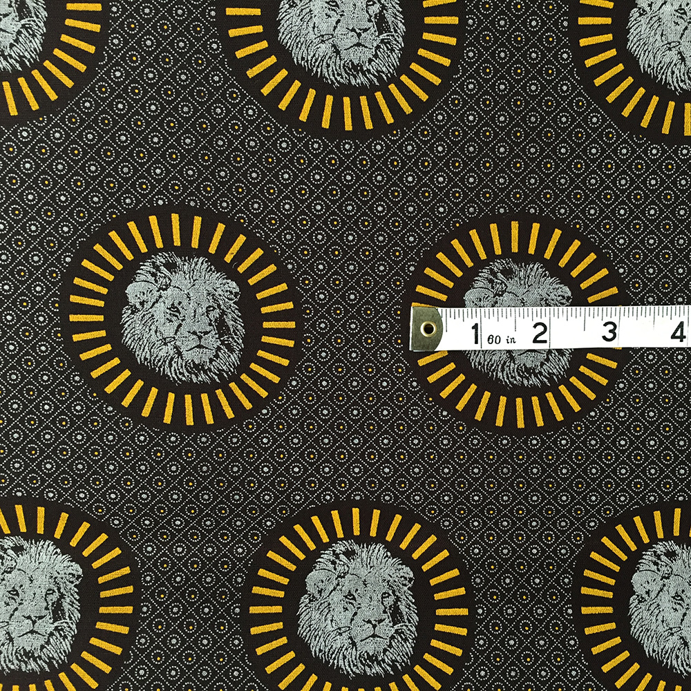 Lion Head Shweshwe Fabric from South Africa