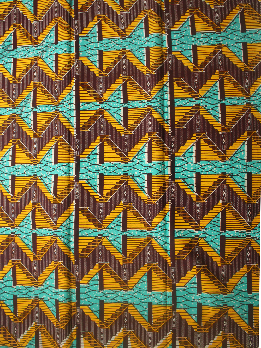 Brown and mustard Ankara fabric