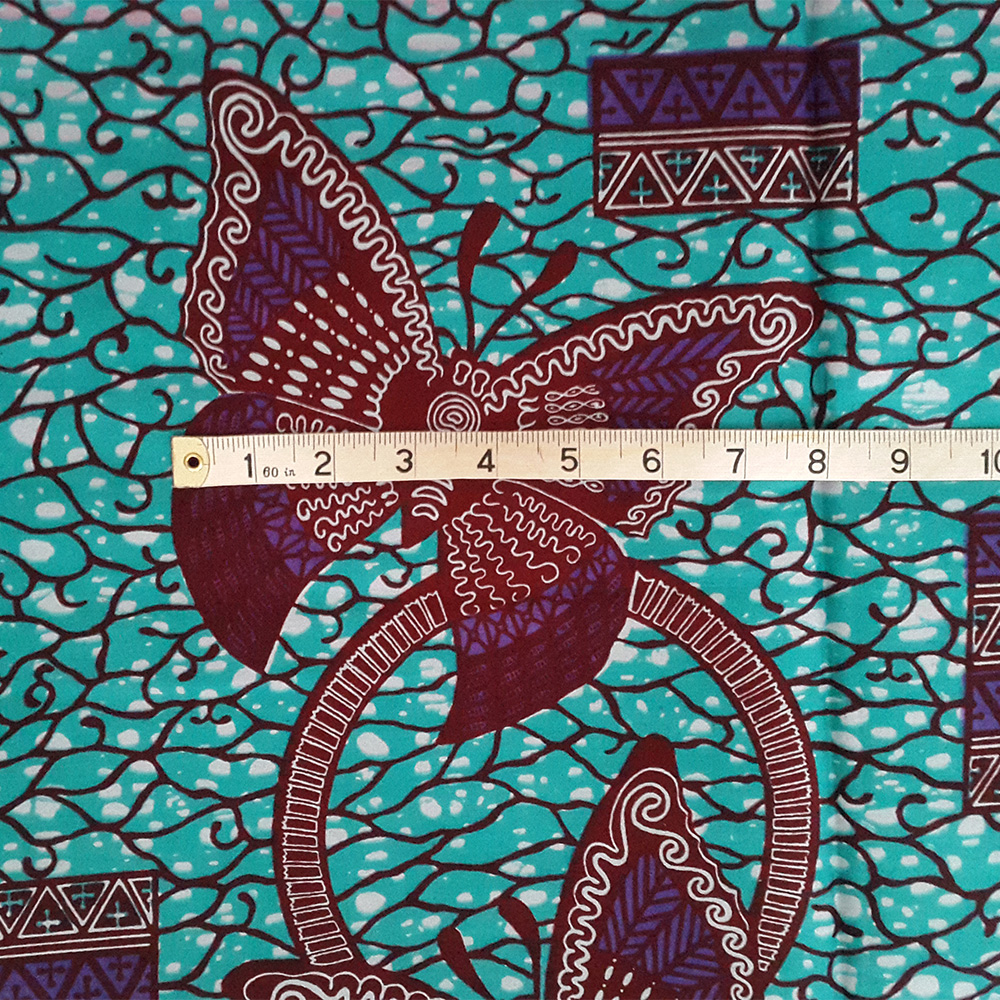Teal And Purple Butterfly Ankara Print By The Yard