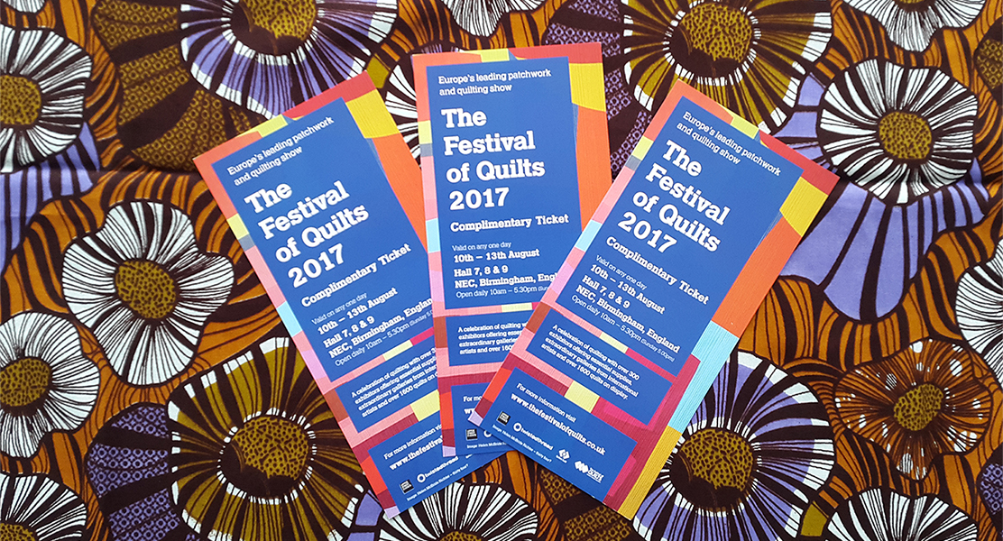 Festival of Quilts 2017- Win Free Tickets