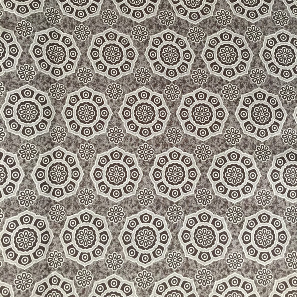 Floral Chocolate Brown Shweshwe fabric available from Urbanstax