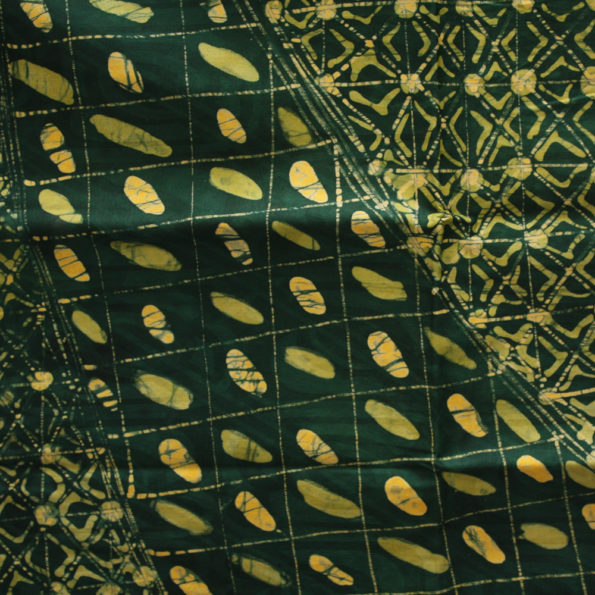 Green and Yellow Batik fabric from Urbanstax