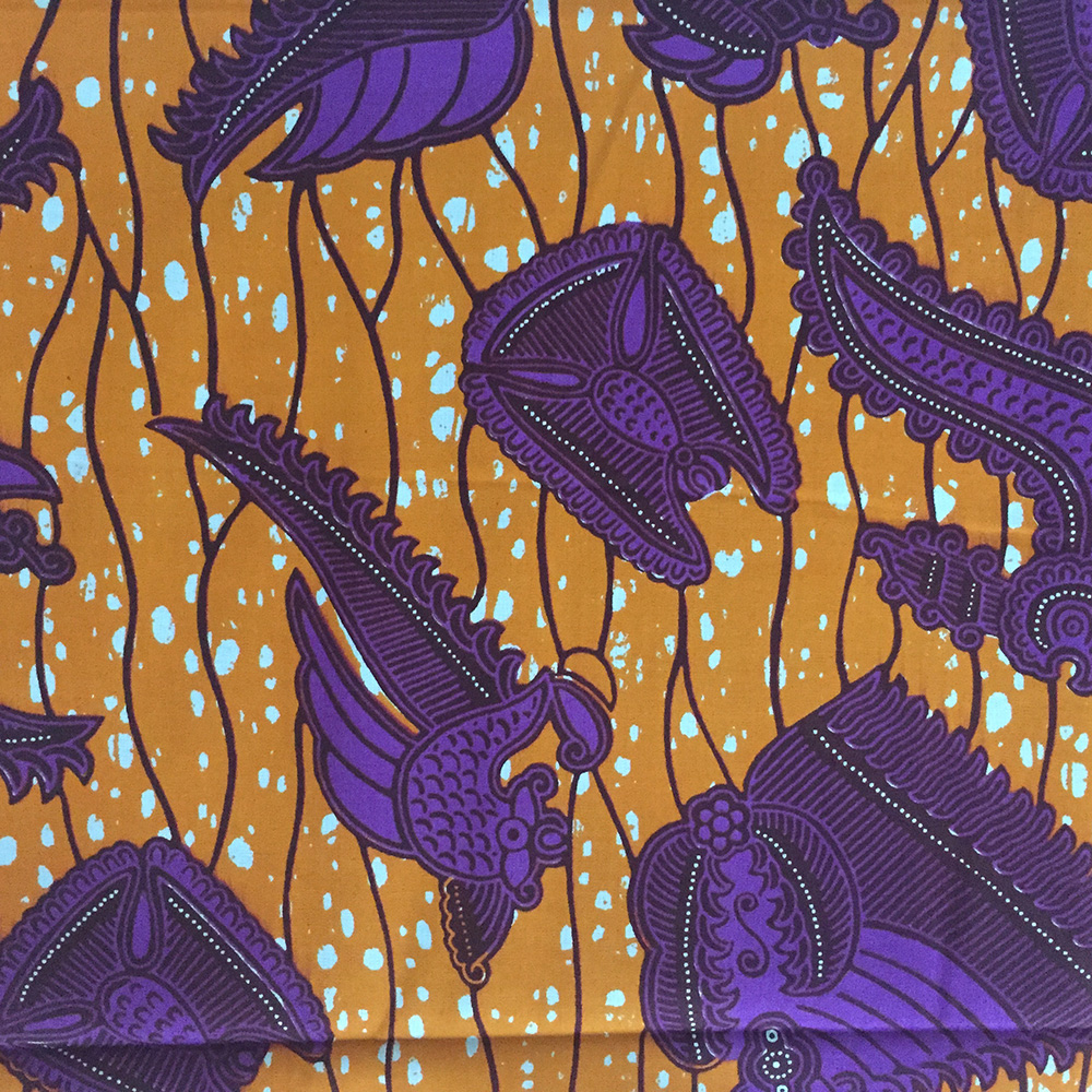 Burnt Orange And Purple Ankara Fabric By The Yard Urbanstax