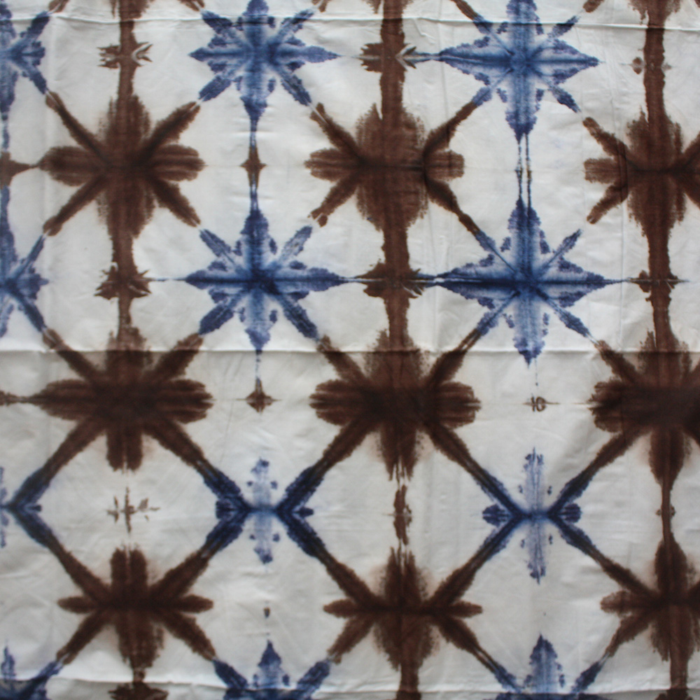 Brown and Blue Adire