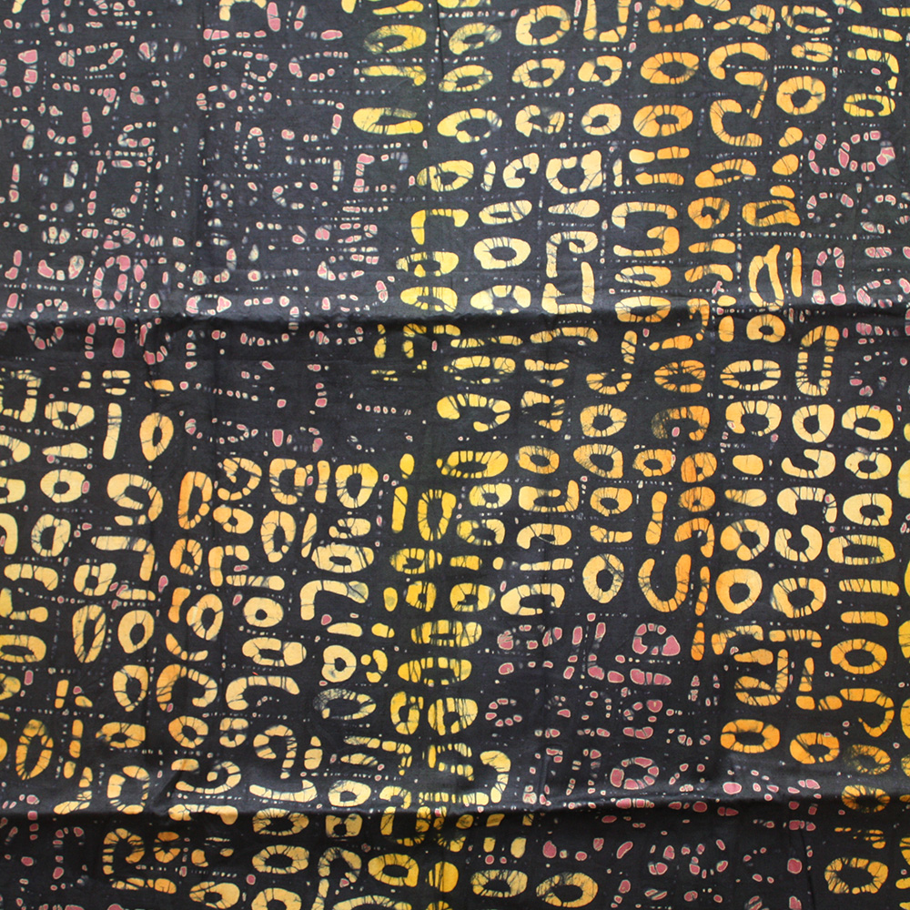 Brown and Orange Batik