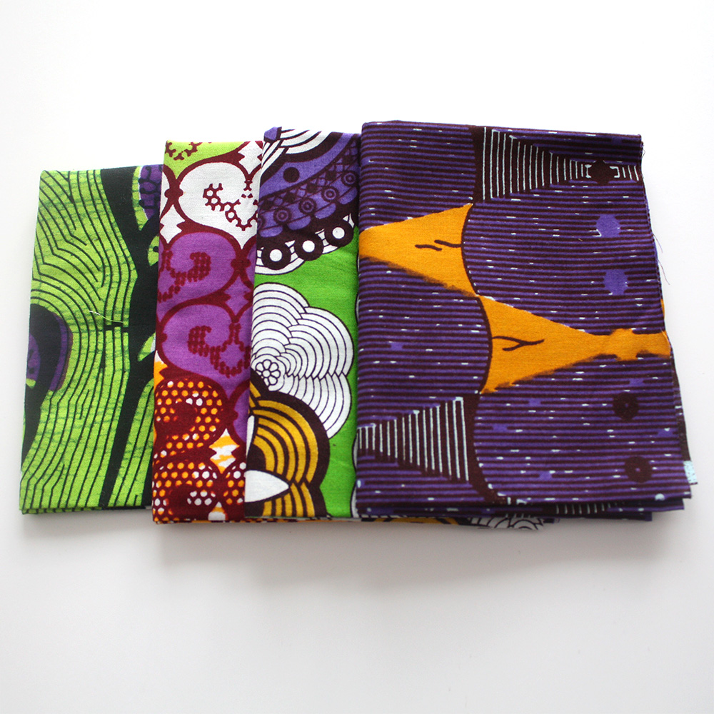 African print fat quarters with Purple from urbanstax.com