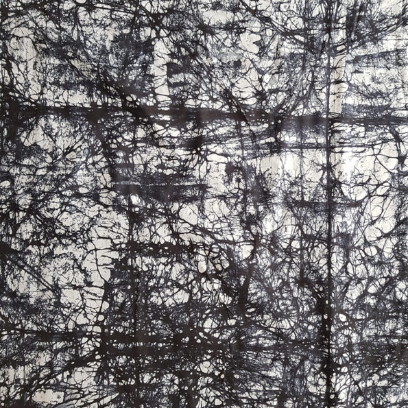 Black and Grey Marble Adire