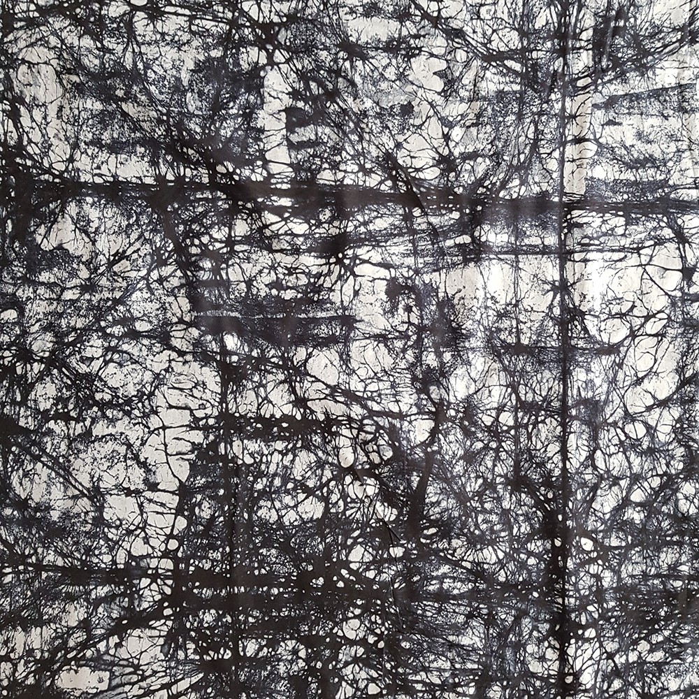 Black and Grey Marble Batik