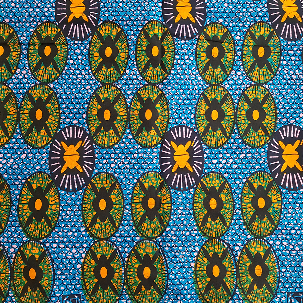 Blue And Orange Ankara Sold By The Yard Urbanstax