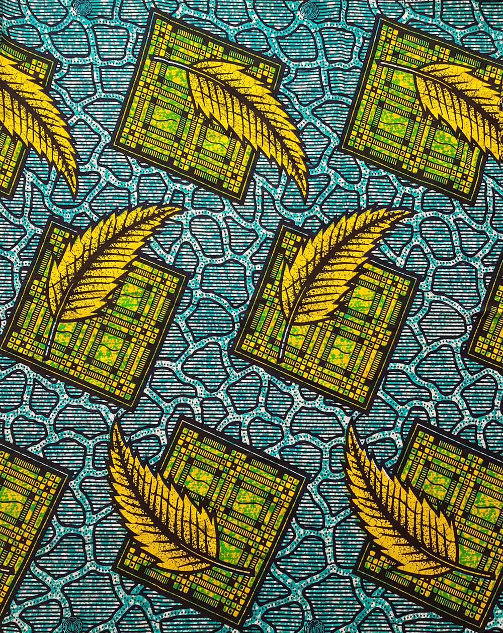 Teal and Yellow Ankara