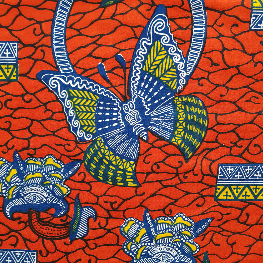 Red And Blue Butterfly Ankara Print By The Yard Urbanstax