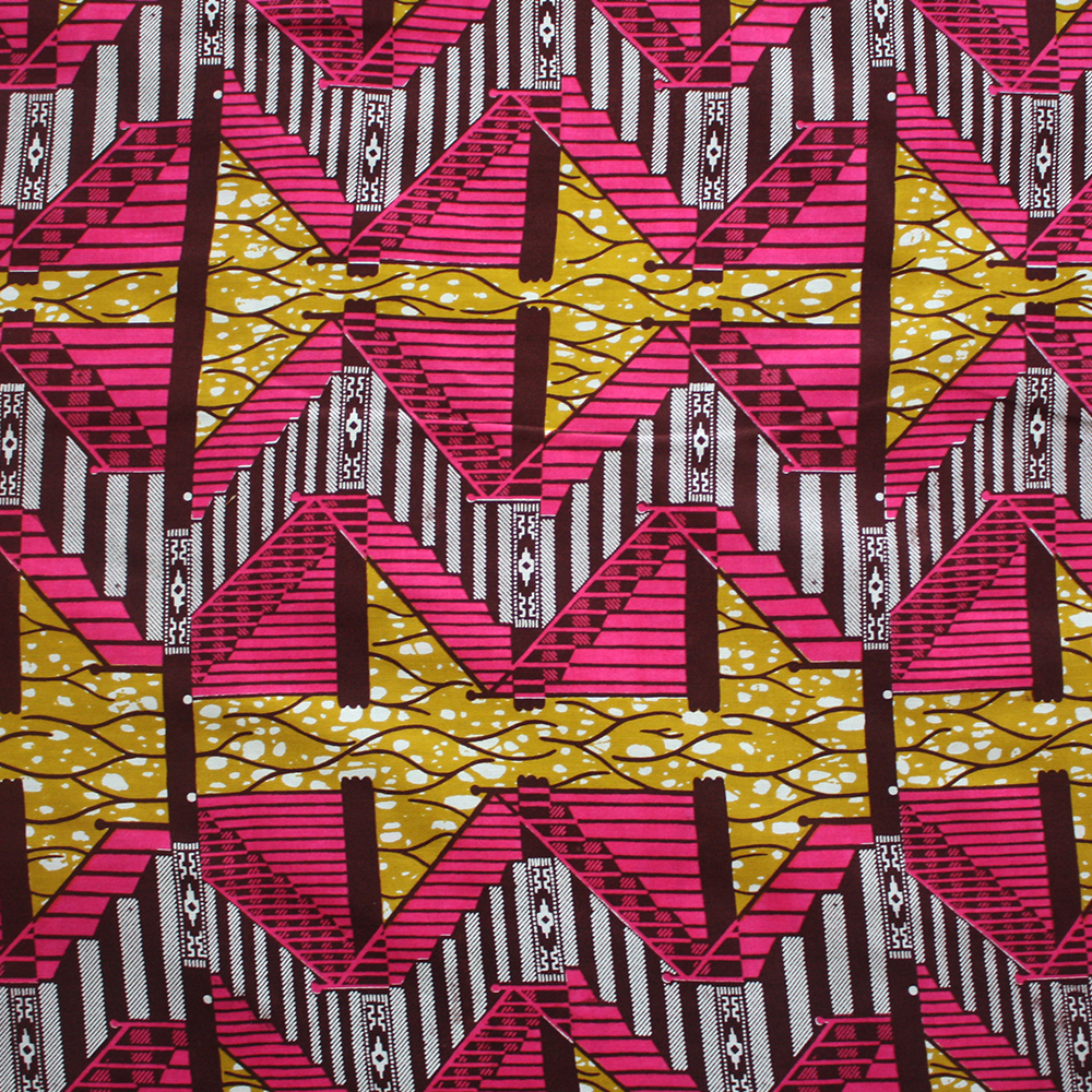 Pink and Mustard Escalator print