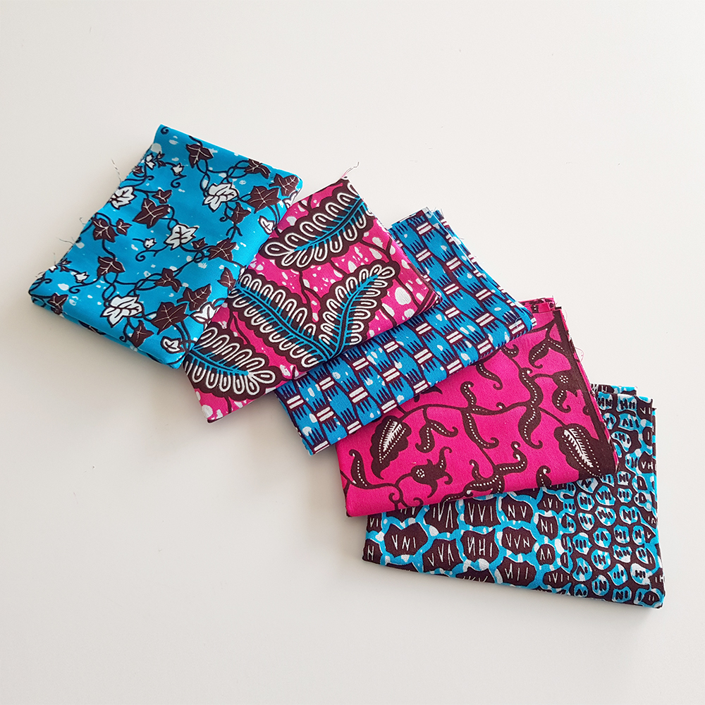 Turquoise and Pink African Print Fat Quarters