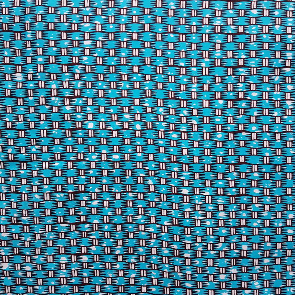 Turquoise and Brown Lattice Ankara