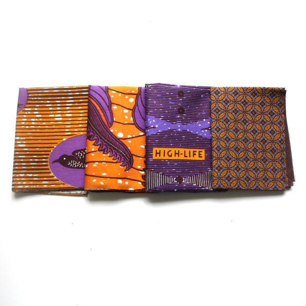 Burnt Orange and Purple Fat Quarter Bundle