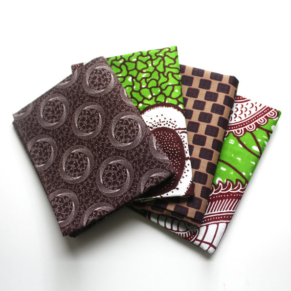 Green and Brown Fat Quarter Bundle