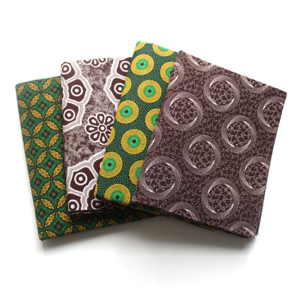 Green and brown Shweshwe fat quarter