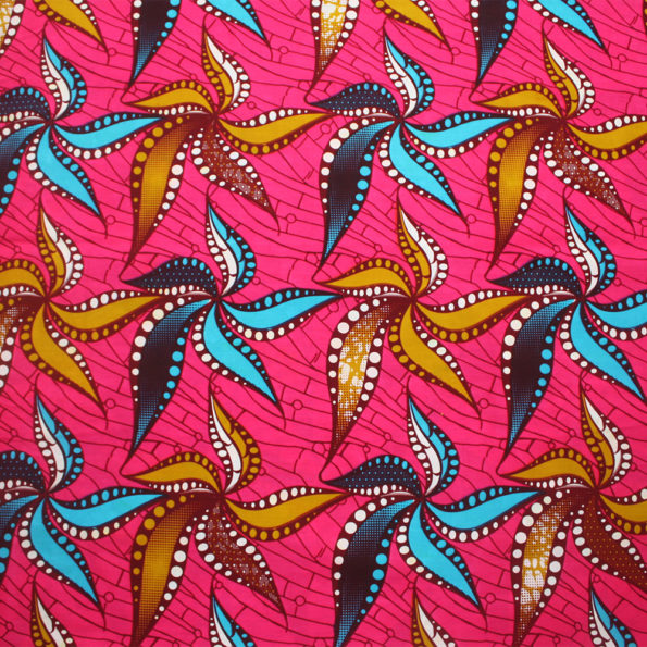 Abstract Flowers in Pink Ankara
