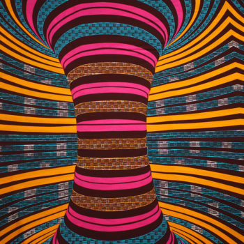 Pink and Turquoise Whirlwind Ankara