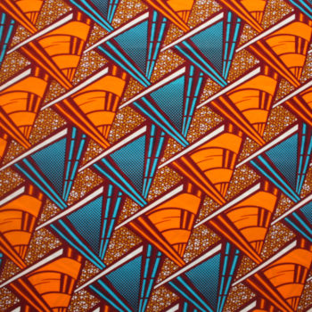 Orange and Turquoise Triangles