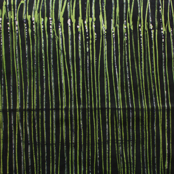 Black and Green Batik Lines