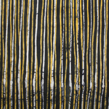 Yellow and Black Batik Lines