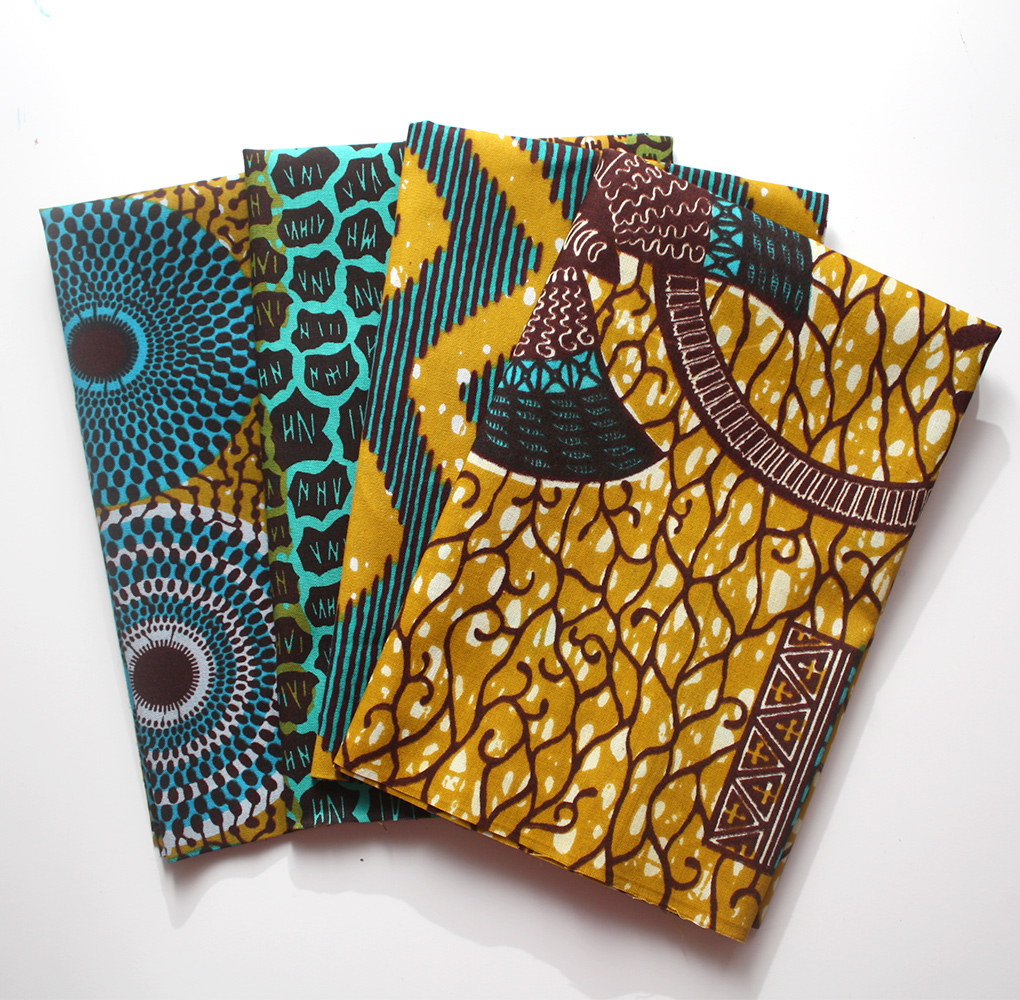 Mustard and Teal Fat Quarters