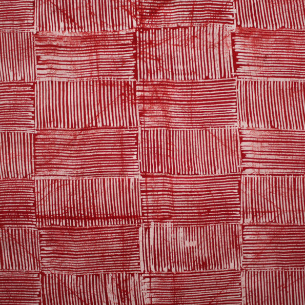 Red and white batik