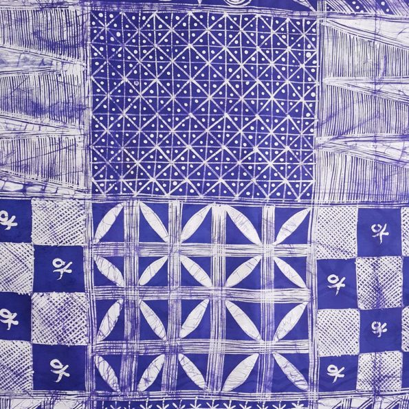 Blue and White Nigerian Batik