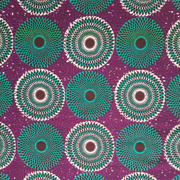 Purple and Teal Circle Print