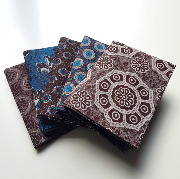 Brown and Turquoise Fat Quarters