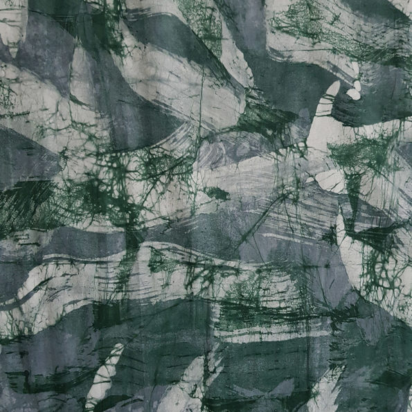 Green and Grey Smoke Batik