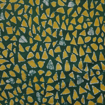 Green and Yellow Pebbles Batik