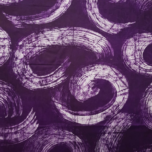 Purple and White Batik